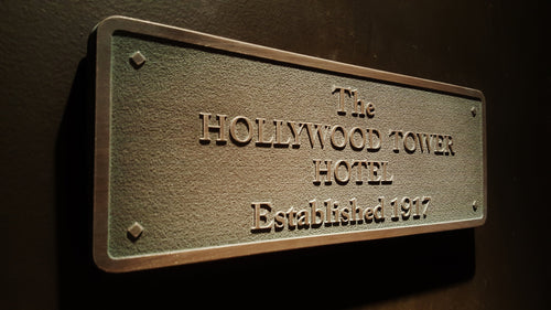 Disney World  HTH Hollywood Tower Hotel Tower Of Terror Plaque