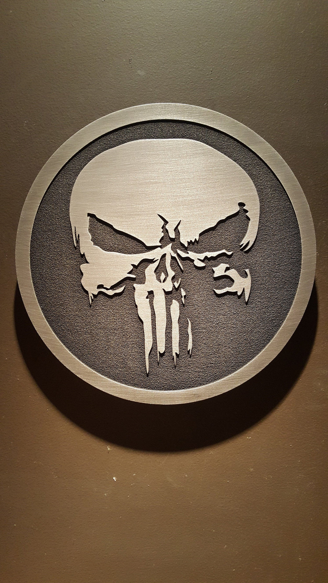 The Punisher inspired skull plaque