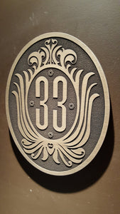 Club 33 inspired sign