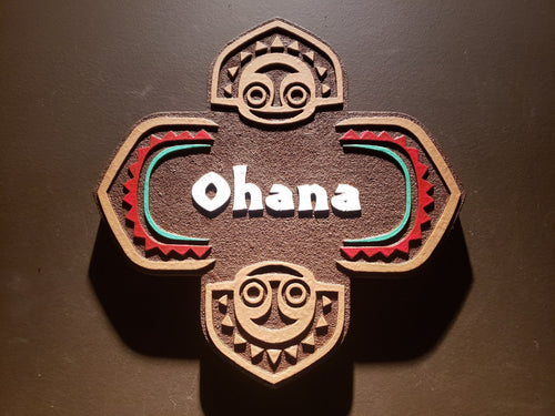 Disney polynesian resort Ohana Tiki replica sign