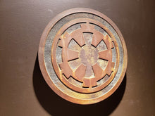 star wars galactic empire plaque sign rust finish