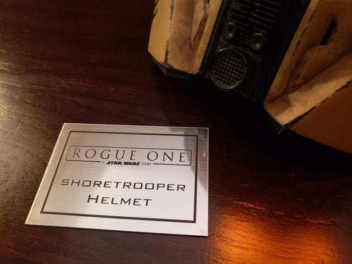 Shore Trooper helmet data plate