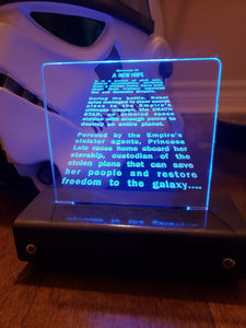 A New Hope opening credit crawl LED Display