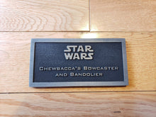 star wars Chewbacca's bowcaster and bandolier name plate