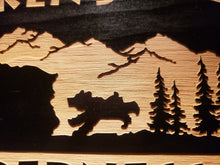 customized wilderness lodge wood sign