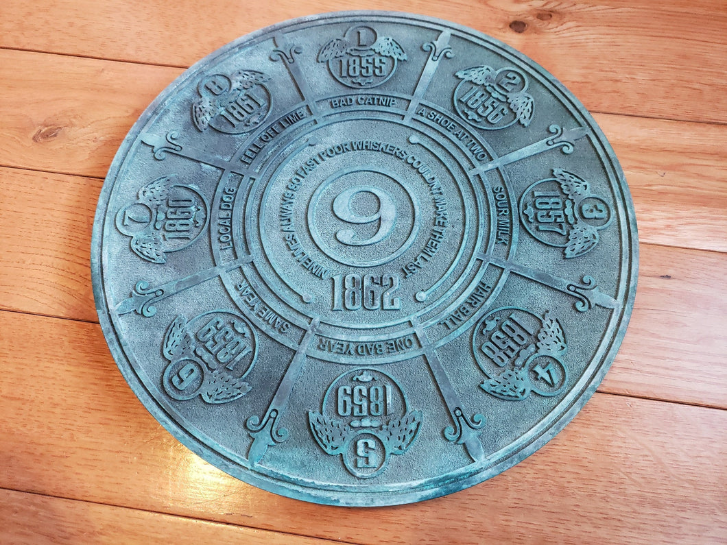 Disney Prop Haunted Mansion pet cemetery 9 lives plaque
