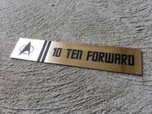 Star Trek USS enterprise 10 forward door label