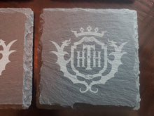 set of 4  hollywood tower hotel themed slate coasters