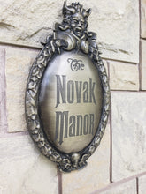 Customizeable  Haunted Mansion Attraction Plaque large scale silver finish