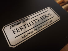 Indiana jones fertility idol data plate