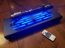Star Wars Lightsaber Display stand with rear jack & LED lights-  textured black finish single saber