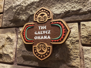 Personalized Polynesian Resort Inspired Replica plaque