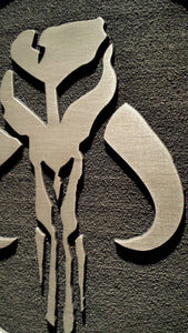 star wars Mandalorian Mythosaur plaque sign Boba Fett