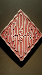 Alice in Wonderland themed wall plaque curiouser and curiouser