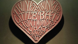 Alice in Wonderland themed wall plaque - twinkle twinkle