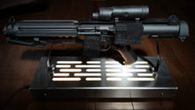 Star Wars Stormtrooper E-11 Blaster Display stand with LED lights