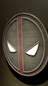 Marvels Deadpool comic inspired plaque