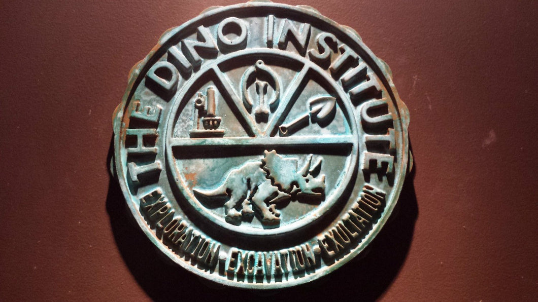 Disney DINOSAUR Dinoland U.S.A. Dino Institute Logo Animal Kingdom Sign Prop