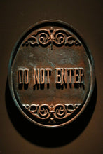 Disney Prop Haunted Mansion Attraction Do Not Enter Plaque Sign