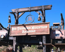 Disney Big THUNDER MOUNTAIN RAILROAD Prop Sign replica