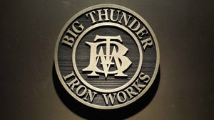 Disney BIG thunder mountain iron works prop sign replica