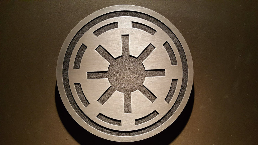 star wars galactic republic plaque sign