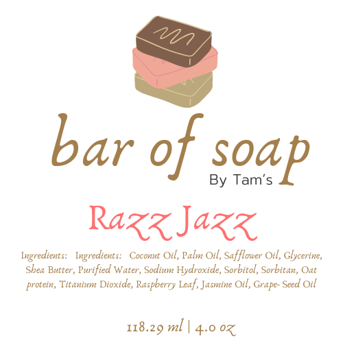 Razz Jazz Bar Soap - Tam's Natural Solutions