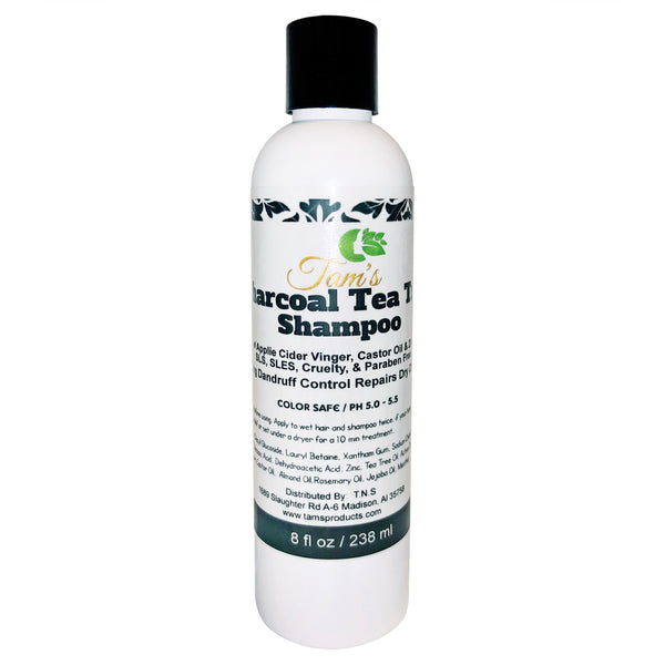 Charcoal Tea Tree Detoxifing Shampoo - Tam's Natural Solutions