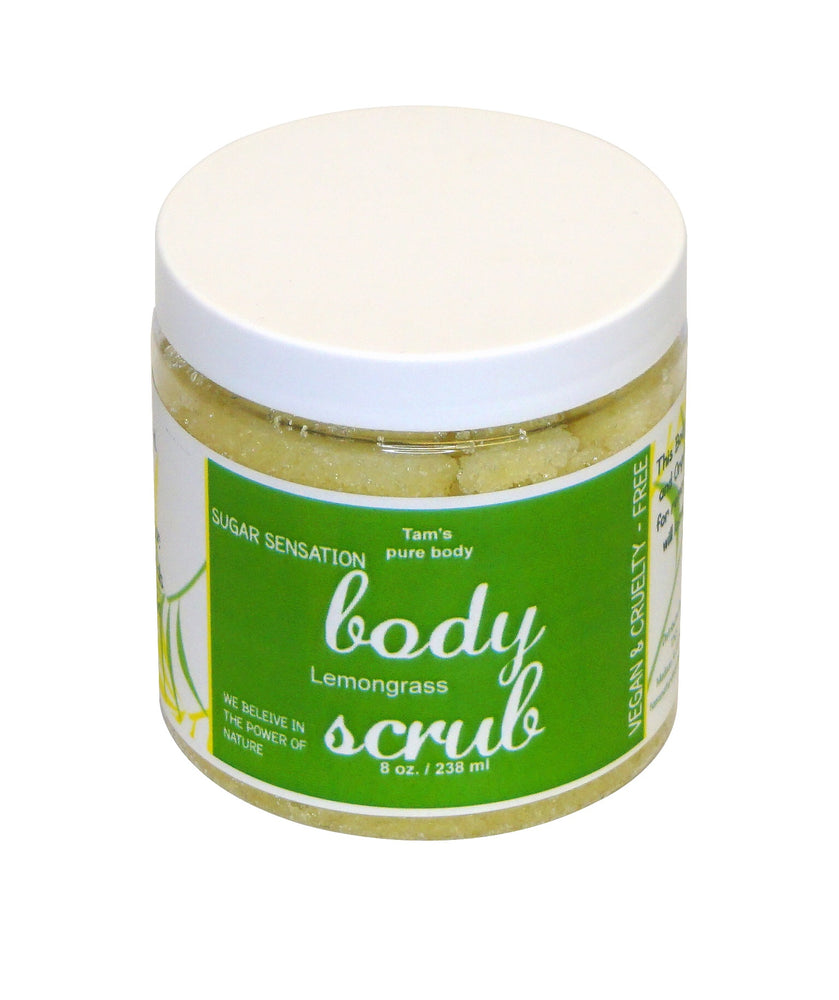 Sugar Sensation ( Body Scrubs). 8oz - Tam's Natural Solutions
