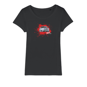 SHOEBILLZ CUSTOMIZED BLOOD Organic Jersey Womens T-Shirt