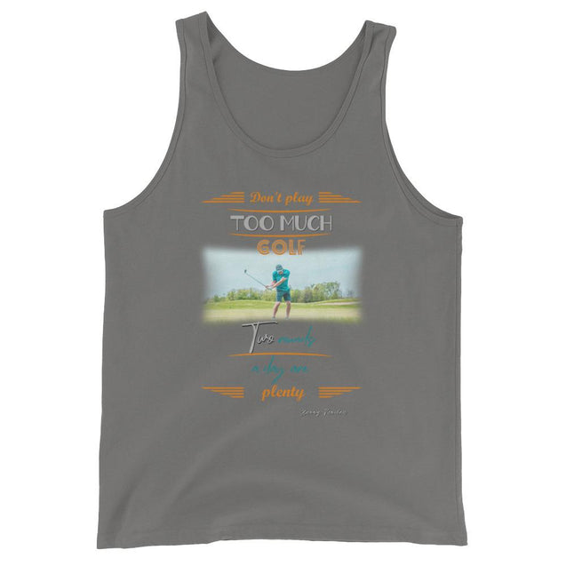 Too Much Golf Unisex  Tank Top - Creatures Unique