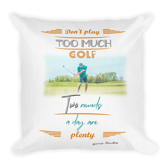 Too Much Golf Premium Pillow - Creatures Unique