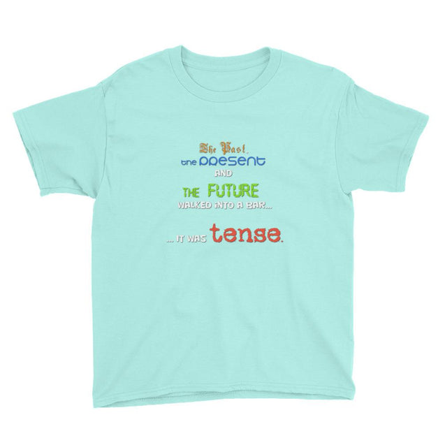 Grammar Tense Youth Short Sleeve T-Shirt - Creatures Unique