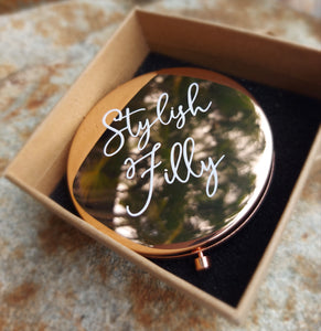 ROSE GOLD MIRROR COMPACT