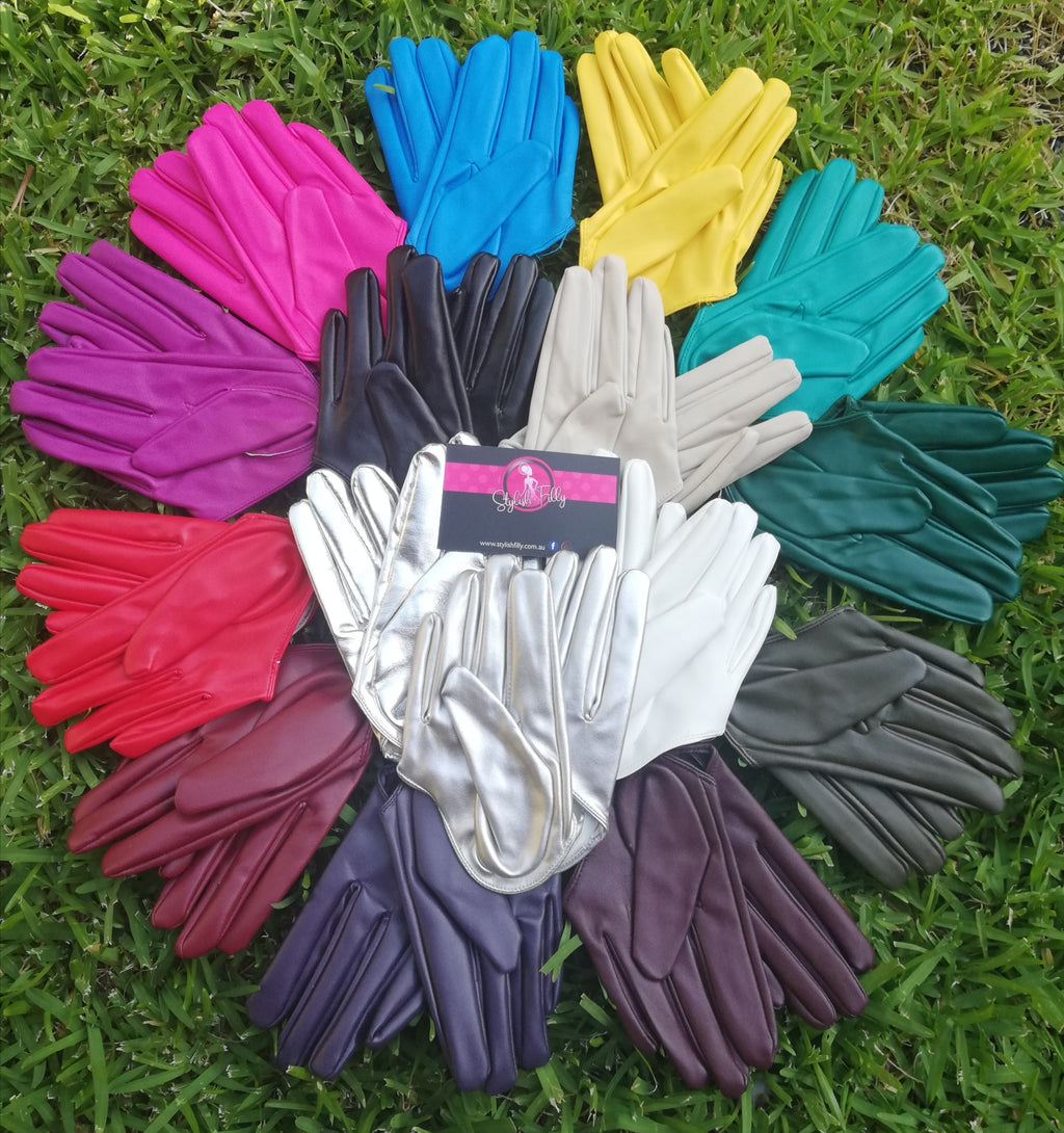 HALF PALM GLOVES (FAUX LEATHER) - other colours available