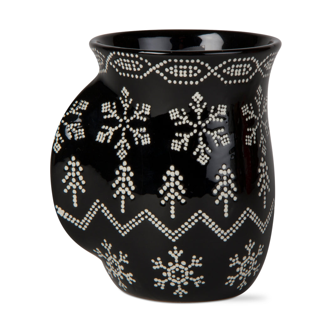 Black Sweater Handwarmer Mug