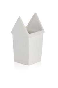 Kasbah House Planter, White
