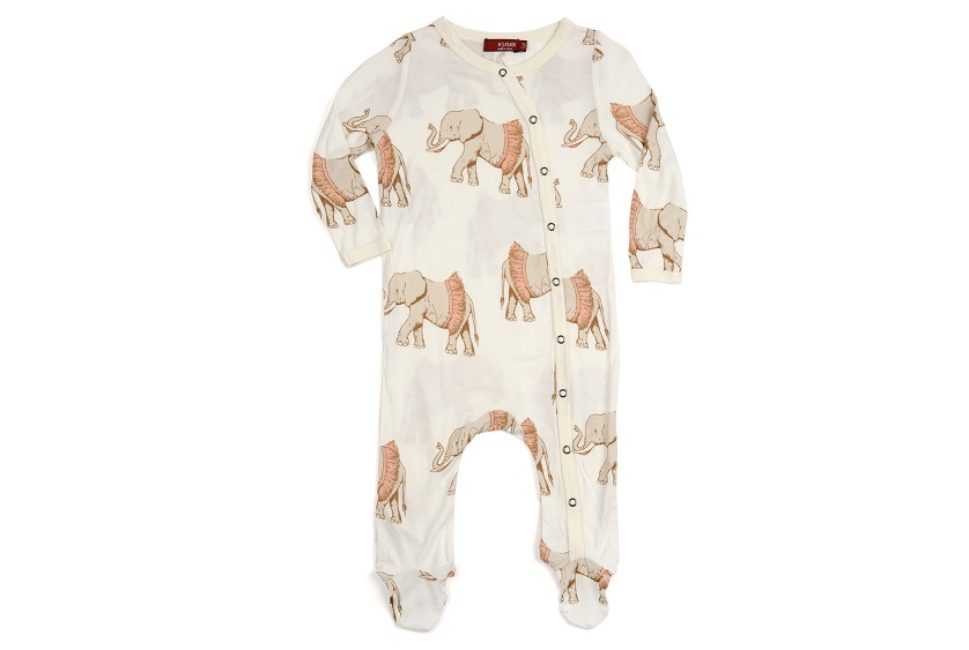Footed Romper Tutu Elephant 6-9M