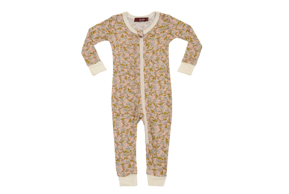 Zipper Pajama Rose Floral 18-24M