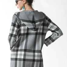 Load image into Gallery viewer, Plaid Jacket with Hood