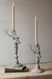 Small Deer Taper Candle Holder