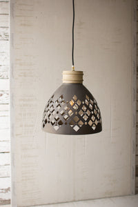 perforated metal pendant light