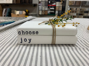 Choose Joy Stamped Books