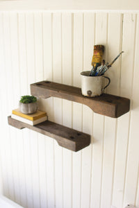 Repurposed Ship Ladder Wall Shelf
