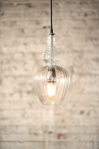 pressed glass pendant light