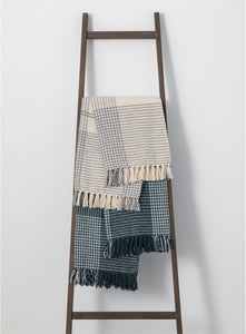 Striped Fringe Throw