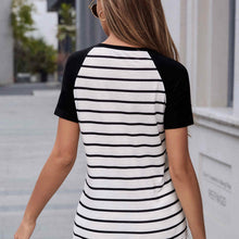 Load image into Gallery viewer, Black and White Striped Shirt