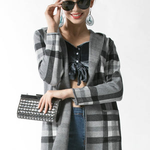 Plaid Jacket with Hood