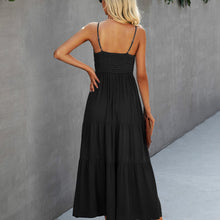 Load image into Gallery viewer, Black Lace Detail Maxi Dress