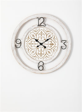 White Rustic Wall Clock